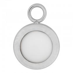 Zawieszka mała matowy biały srebrna