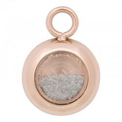 Zawieszka mała biały piasek różowe złoto