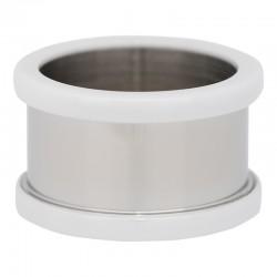 Pierścionek baza 10 mm ceramika biała