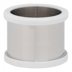 Pierścionek baza 14 mm ceramika biała
