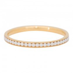 Ring cyrkonia biała 2 mm złoty