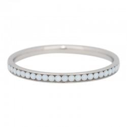 Ring cyrkonia biała 2 mm srebrny