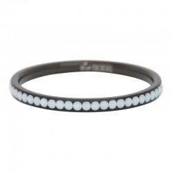 Ring cyrkonia biała 2 mm czarny