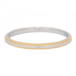 Ring podwójna linia 2 mm srebrno-złoty
