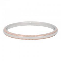 Ring podwójna linia 2 mm srebrno-różowe złoto