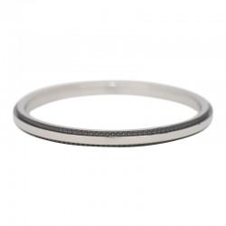 Ring podwójna linia 2 mm srebrno-czarny