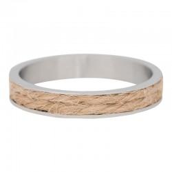 Ring piaskowy sznurek srebrny