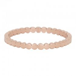 Ring płaskie kulki 2 mm różowe złoto
