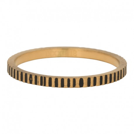 Ring kartele 2 mm mat złoty/czarny
