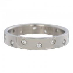 Ring 14 oczek cyrkonia 4 mm srebrny