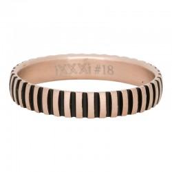 Ring piano mat różowe złoto/czarny
