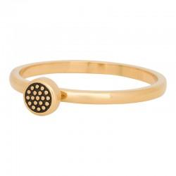 Ring kulka z kropkami 2 mm złoty