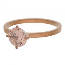 Ring kamień Glamour wysoki 2 mm brązowy