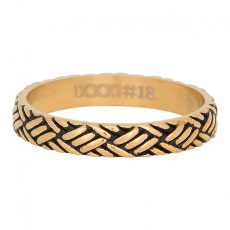 Ring węzeł złoty/czarny