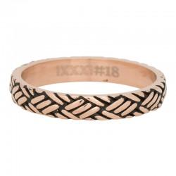 Ring węzeł różowe złoto/czarny