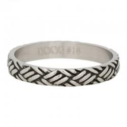 Ring węzeł srebrny/czarny