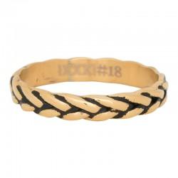 Ring kłos złoty/czarny