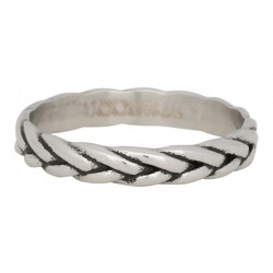Ring kłos srebrny/czarny