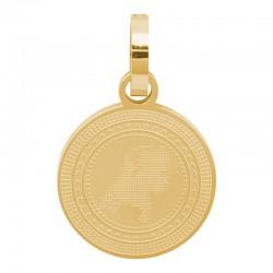 Zawieszka duża złota Holandia 25 mm
