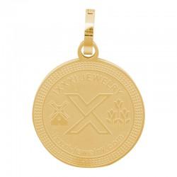 Zawieszka duża złota iXXXi 25 mm