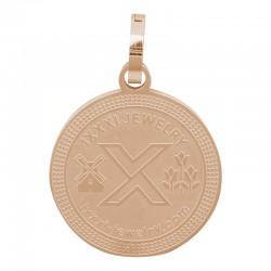 Zawieszka duża różowe złoto iXXXi 25 mm