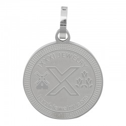 Zawieszka duża srebrna iXXXi 25 mm