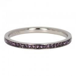 Ring cyrkonia tanzanit 2 mm srebrny