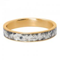 Ring confetti 4 mm złoty