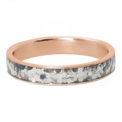 Ring confetti 4 mm różowe złoto