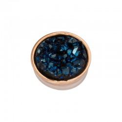Element wymienny kryształki ciemno niebieskie różowe złoto
