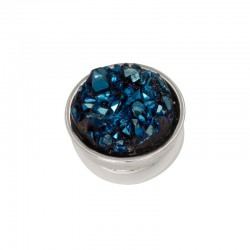 Element wymienny kryształki ciemno niebieskie srebrny