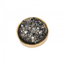 Element wymienny kryształki ciemno szare złoty