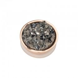 Element wymienny kryształki ciemno szare różowe złoto