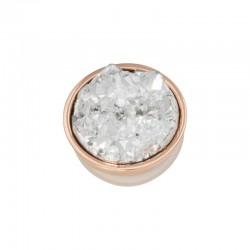 Element wymienny kryształki różowe złoto
