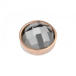 Element wymienny fasetowany czarny diament różowe złoto