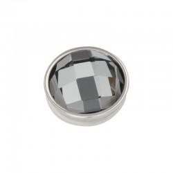 Element wymienny fasetowany czarny diament srebrny