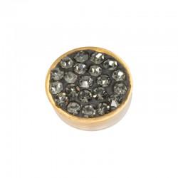 Element wymienny cyrkonie czarny diament złoty