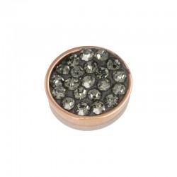 Element wymienny cyrkonie czarny diament różowe złoto
