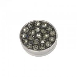 Element wymienny cyrkonie czarny diament srebrny