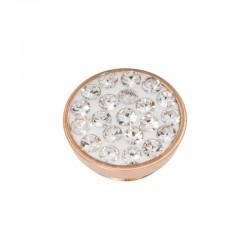 Element wymienny cyrkonie kryształowe różowe złoto