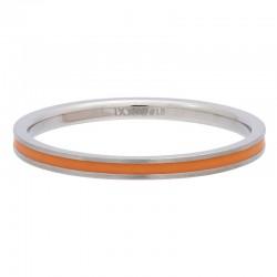 Ring pomarańczowa linia 2 mm srebrny