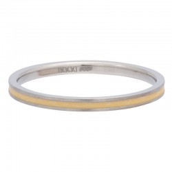 Ring żółta linia 2 mm srebrny