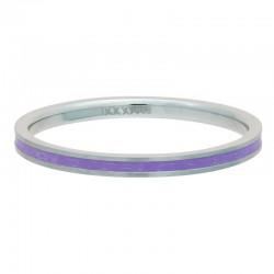 Ring fioletowa linia 2 mm srebrny