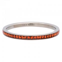 Ring cyrkonia pomarańczowa 2 mm srebrny