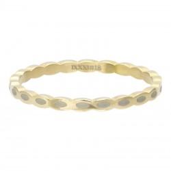 Ring owalny 2 mm złoty