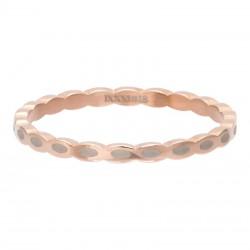 Ring owalny 2 mm różowe złoto