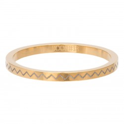Ring łamana linia 2 mm złoty