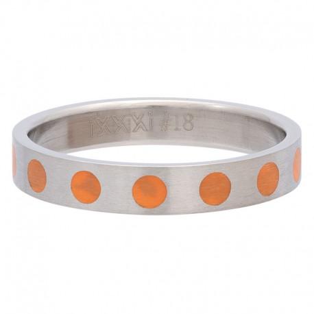 Ring kółka pomarańczowe 4 mm srebrny