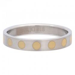 Ring kółka żółte 4 mm srebrny
