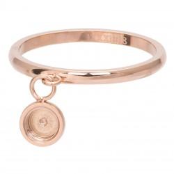 Ring baza do elementów wymiennych wiszących 2 mm różowe złoto